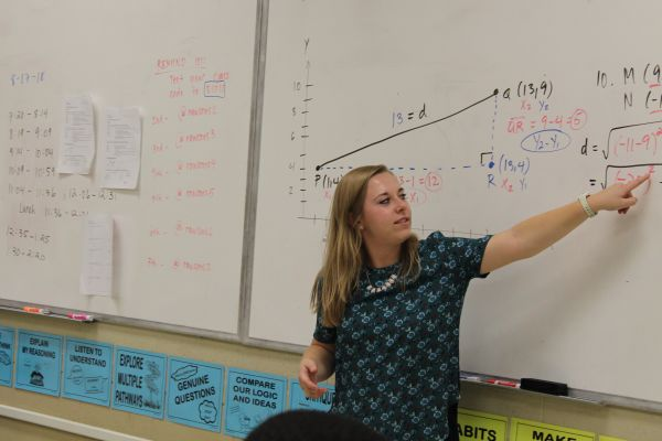 ELIZABETH RAWSON JOINS THE POUNDER FAMILY -- Rawson is looking forward to teaching geometry this school year.