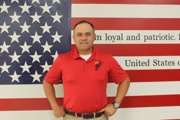 AFTER 25 YEARS IN THE MILITARY, MAJOR SPENCER, JOINS CENTRAL AS THE NEW JROTC EDUCATOR -- This will be the first year Major Spencer teaches students about the military in the Junior ROTC Program.