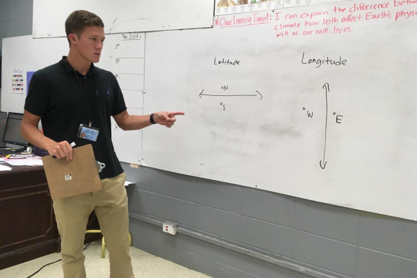 TEACHER SPOTLIGHT: CENTRAL HIGHSCHOOL WELCOMES JOSEPH PARROTT, NEW WORLD HISTORY AND GEOGRAPHY TEACHER -- Mr. Parrott joins Central High School for his first year of teaching.