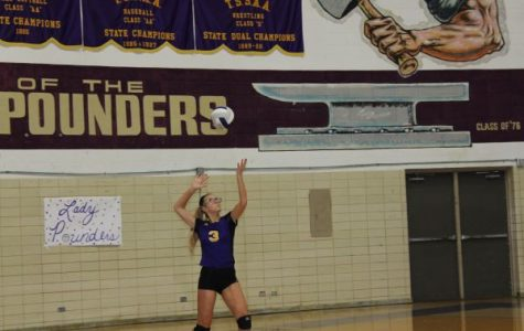 ITS A SERVE! -- Central Volleyball Player Ina Henderson serves the ball to Walker Valley.