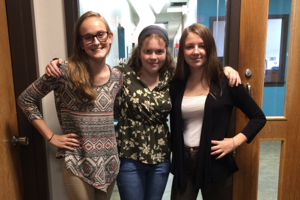 CENTRAL STUDENTS PARTICIPATE IN YLC PROGRAM -- Pictured from left to right: Zoey Greene, Bailey Brantingham, and Elizabeth Irving.