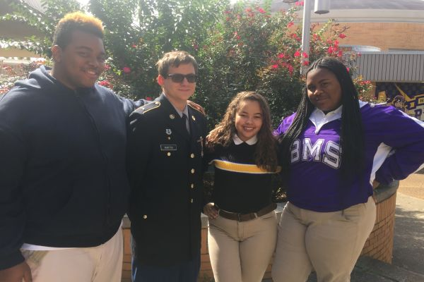THE 2018-2019 YEAR SOPHOMORE CLASS OFFICERS -- Pictured left to right, sophomore class officers Kenyon McCrobey, Riley Martin, Destiney Smith, Erin Bell.