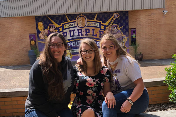 CENTRAL, WHAT'S GOOD?-- Honor students Larissa Ryabchuk (left) Laurelie Holmberg (middle) and Delaynie France (right) showing being good is the way to go.