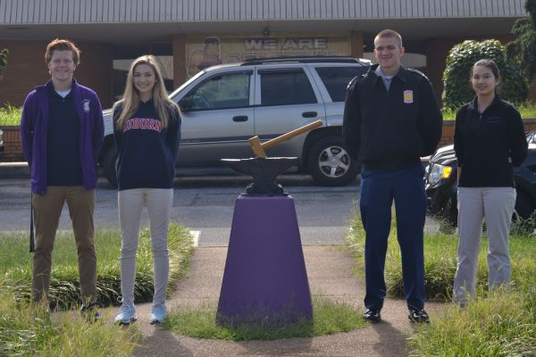 SENIOR ELECT CLASS OF 2019 OFFICERS -- Nathen Vanderwilt, Sam Reels, Brittney Hoang, and Matthew Frasier stand proud as they represent Central's 2019 as class officers.
