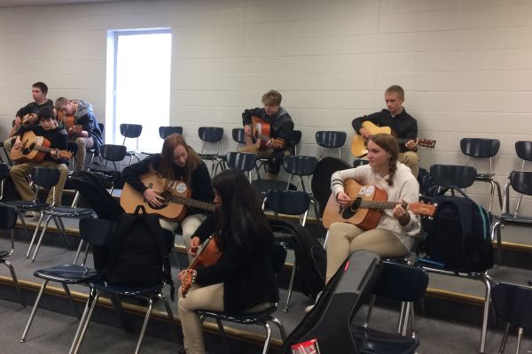 JUST HOW IMPORTANT ARE FINE ARTS? --  The guitar class is just one of the many fine arts classes Central has to offer.