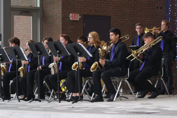 CENTRAL HIGH SCHOOL BANDS DISPLAY ABUNDANT TALENT IN MULTIPLE ENVIRONMENTS -- The Central High School Jazz Band performed at Miller Park as part of