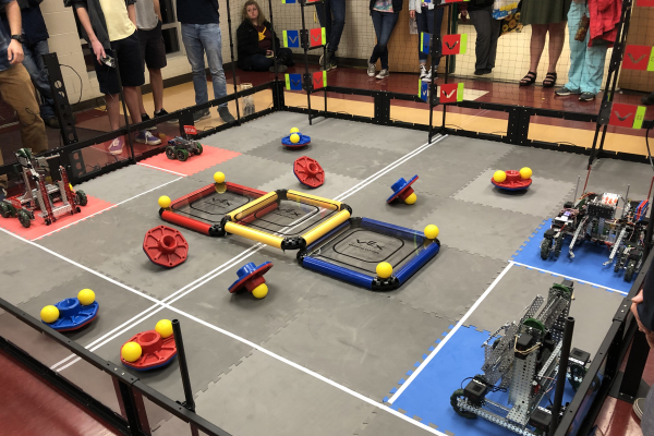 CENTRAL'S ROBOTICS TEAM PREVAILS IN VEX COMPETITIONS — Depicted above is the ring where all of the robot challenges are held.