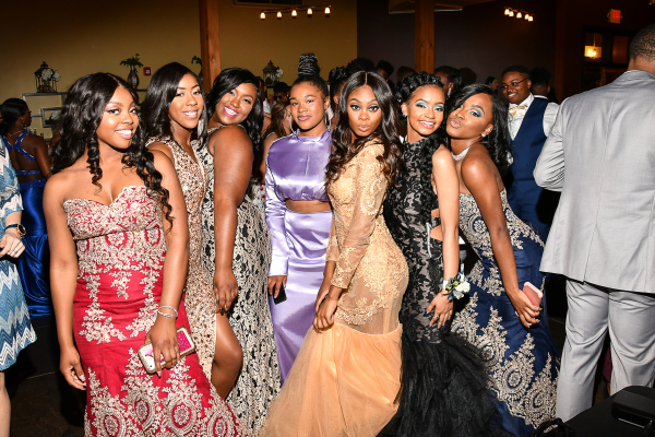 CENTRAL WALKS THE RED CARPET --  Central students from 2018's prom enjoy the big night with friends.