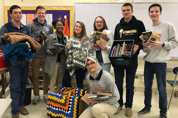 SUPPORT ERLANGER ONCOLOGY AND THE NATIONAL HONOR SOCIETY BY DONATING HATS AND BOOKS --The National Honor Society members have already received several hat and book donations.