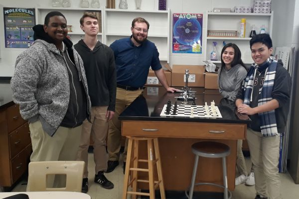 CENTRAL HIGH CHESS CLUB WELCOMES NEW MEMBERS -- The Central Chess Club is ecstatic to have time after school to pursue their shared hobby.