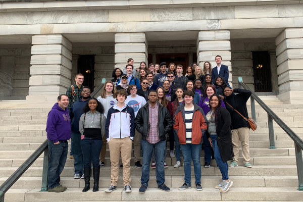 AP GOVERNMENT STUDENTS TOUR TENNESSEE'S STATE CAPITOL AND STATE MUSEUM -- AP Government, journalism, and gifted students got to go behind the scenes of the State Capitol to discover more about what goes on in the legislative branch.