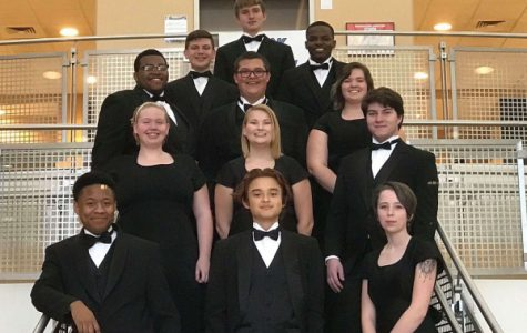 THE CENTRAL SOUND'S NUMEROUS GIFTED MUSICIANS PARTICIPATE IN DISTINGUISHED HONOR BANDS -- Central's exceptional musicians enjoy strengthening their skills and spending time together at the UTC Tri-State Honor Band.