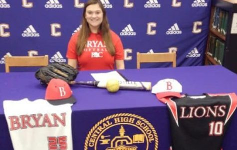 SENIOR MIKAYLA GILL IS ACCEPTED INTO BRYAN COLLEGE WITH A SOFTBALL SCHOLARSHIP —  Mikayla Gill appears to be elated with the new jerseys she received from Bryan College.