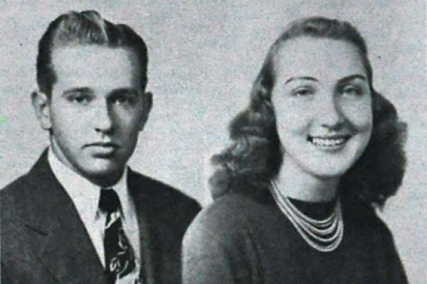 1949 WINNERS OF D.A.R. AND S.A.R. AWARDS -- Pictured are Franklin Ashley (right) and Barbara French (left) who won the D.A.R. and S.A.R. Awards in for the 1949 school year.