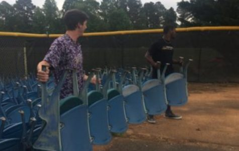 Central's Baseball Team Receives Stadium Seats to Improve Stands