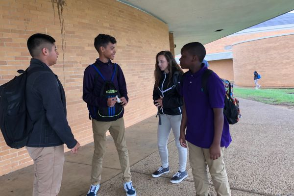 CENTRAL HIGH SCHOOL STUDENTS DRESS FOR SUCCESS - - Central High School freshmen wait to go home after school, while in their school dress code.