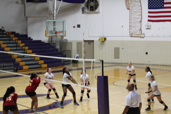 CENTRAL'S GIRLS VOLLEYBALL TEAM PREVAILS IN MATCHES AGAINST EAST RIDGE AND TYNER -- The girls volleyball team strives to perfect their technique, and prove their progress with recent victories against East Ridge and Tyner.