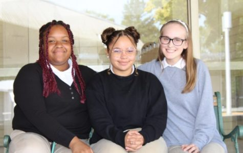 THE JUNIOR CLASS OFFICERS PLAN FOR A YEAR OF POUNDER PRIDE -- The 2019-2020 Junior class officers are depicted above. From left to right is Vice President Ariya McGhee, President Destiny Smith, and Secretary Zoey Greene.