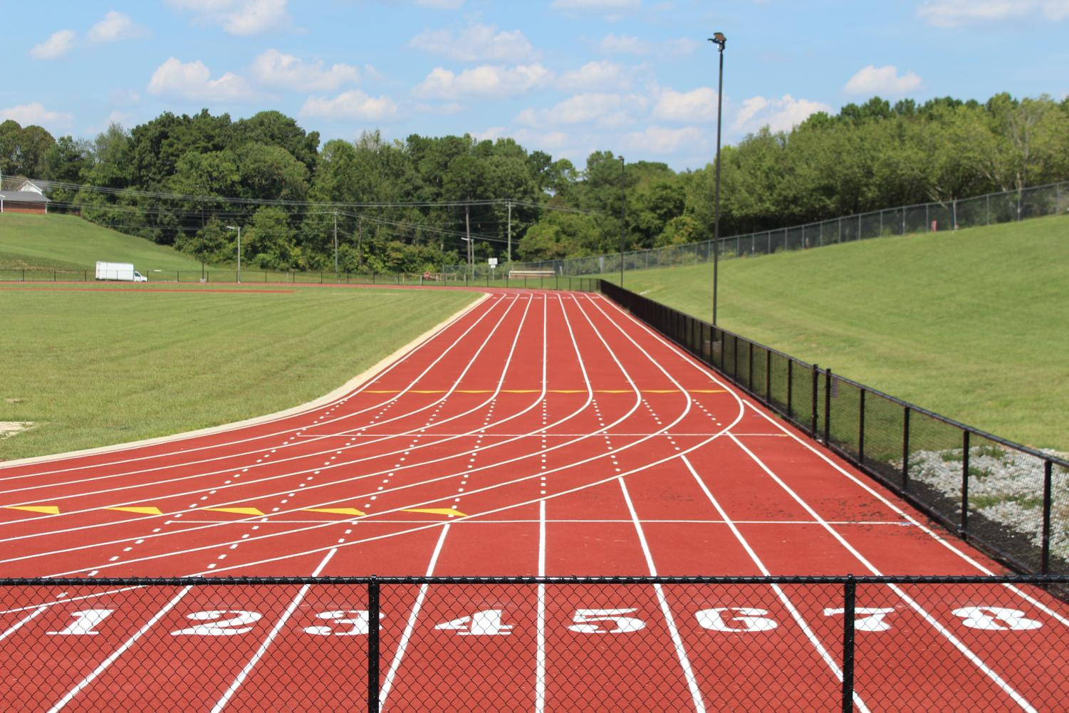 CENTRAL'S LATEST INSTALLMENT IS RIGHT ON TRACK -- Construction on Central's track is finally completed, and it proudly sports eight lanes.