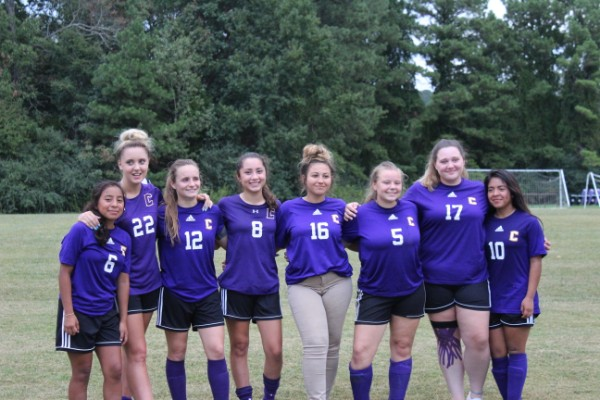 GIRLS' SOCCER TEAM BIDS FAREWELL TO CLASS OF 2020 DURING SENIOR NIGHT -- The Senior Lady Pounders are recognized for their hard work and determination.