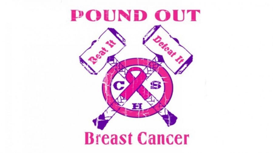 CENTRAL PLANS TO POUND OUT BREAST CANCER WITH DIGITAL ARTS T-SHIRTS — Hannah Christian, digital arts student, creates a logo for t-shirts in support of Breast Cancer Awareness Month.