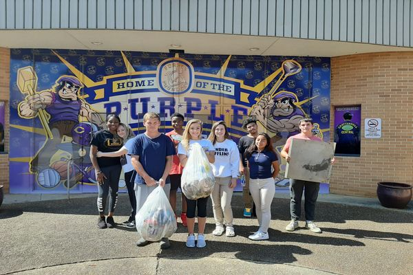 EVERY LITTLE BIT HURTS: COACH SHURETTE'S FIFTH PERIOD BEAUTIFIES CENTRAL'S CAMPUS -- Shurette's fifth period gym class is showing off their campus cleanup efforts proudly.