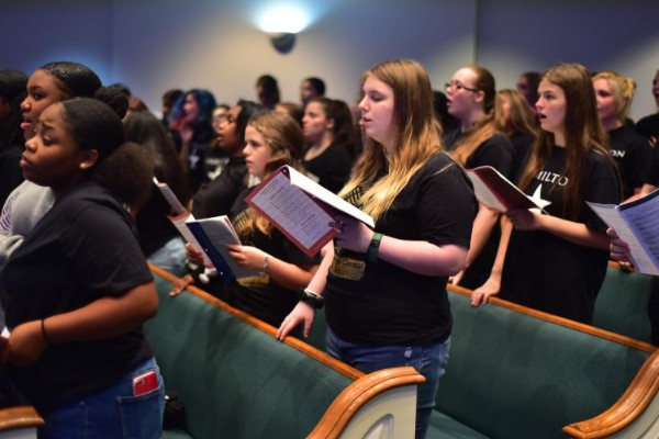 CENTRAL SHOWCASES ITS MUSICAL FORTES AT ANNUAL CHOIR FESTIVAL -- The Central Choir enjoyed their time collaborating with different people from other schools.