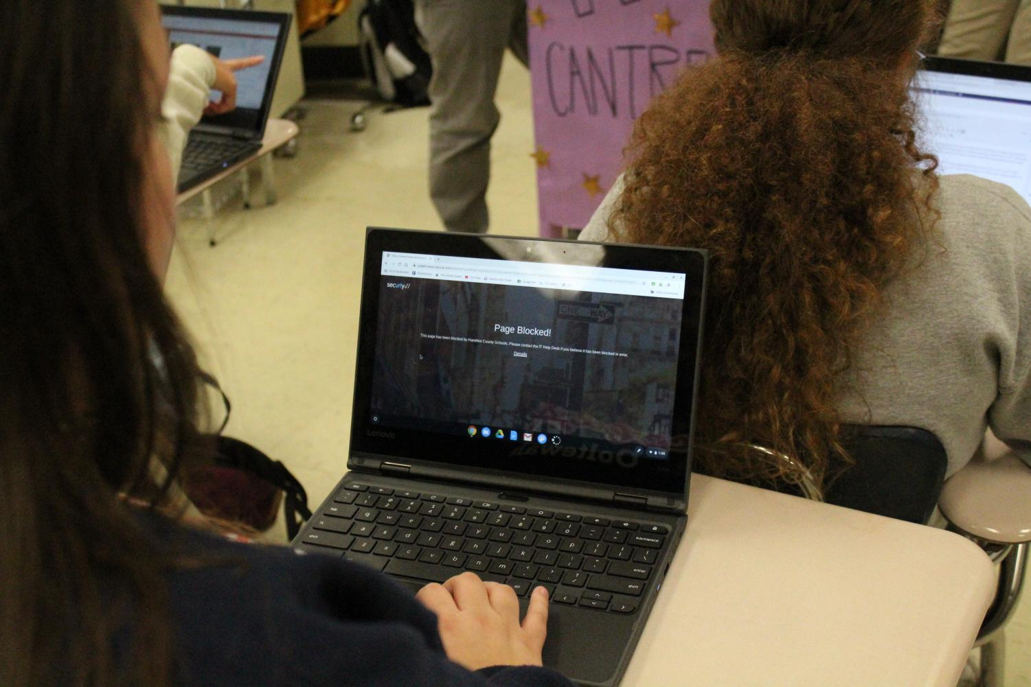 DO SCHOOL CHROMEBOOKS BLOCK MORE THAT NECESSARY? -- A school issued Chromebook blocks a student from accessing a certain website.