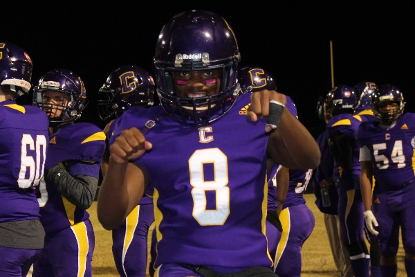 2019-2020 CENTRAL POUNDERS FOOTBALL  -- Senior Kelvin McGhee poses for the camera at the 2019 football Senior Night game against Anderson County, which took place on October 24.