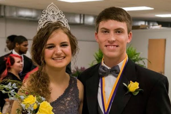 ALUMNI SPOTLIGHT: JADYN SNAKENBERG ('16) RETURNS TO CENTRAL WITH PRIDE AS A STUDENT TEACHER -- Central Alumni Jadyn Snakenberg (left) with Jacob Denton (right) pose as 2016 Mr. and Ms. Central.