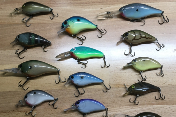 LUCAS KEOWN CAPTURES ATTENTION WITH HANDCRAFTED FISHING LURES -- Twelve of Keown's designed lures are on display.