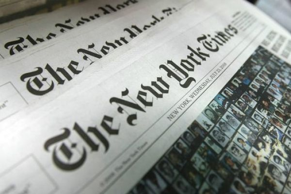 THE TRUTH BEHIND FAKE NEWS -- Pictured above are physical copies of the New York Times, one of the most attacked new sources by false news claims.