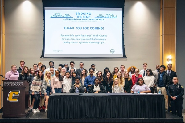 HAMILTON COUNTY STUDENTS ADVOCATE REFORM AT MAYOR'S YOUTH COUNCIL GUN VIOLENCE EVENT -- The members of the Mayor's Youth Council pose for a picture after their successful panel discussion.