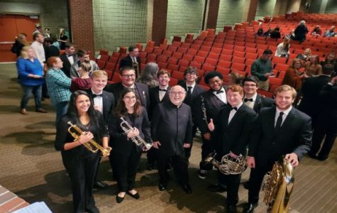 SEVEN CENTRAL STUDENTS ARE ACCEPTED INTO LEE HONOR BAND -- Central band students are directed by distinguished composer, David Holsinger.