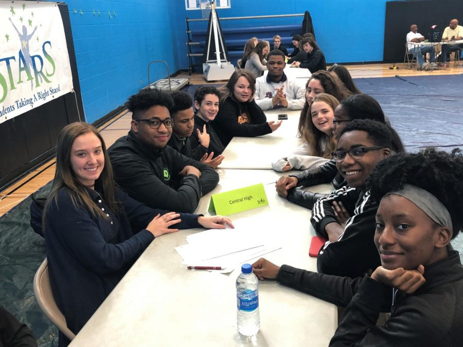CENTRAL STUDENTS ATTEND YOUTH SUMMIT STRIVING TO IMPROVE SCHOOL ATMOSPHERE -- Pictured above are the Central students who attended the Youth Summit.