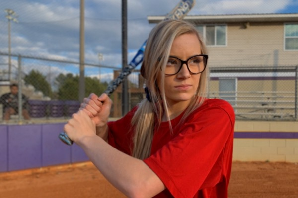 CENTRAL'S SOFTBALL TEAM ASPIRES TO ADVANCE TO THE STATE TOURNAMENT THIS SEASON -- Senior Ina Henderson is ready to hit the ball during their preseason practice.