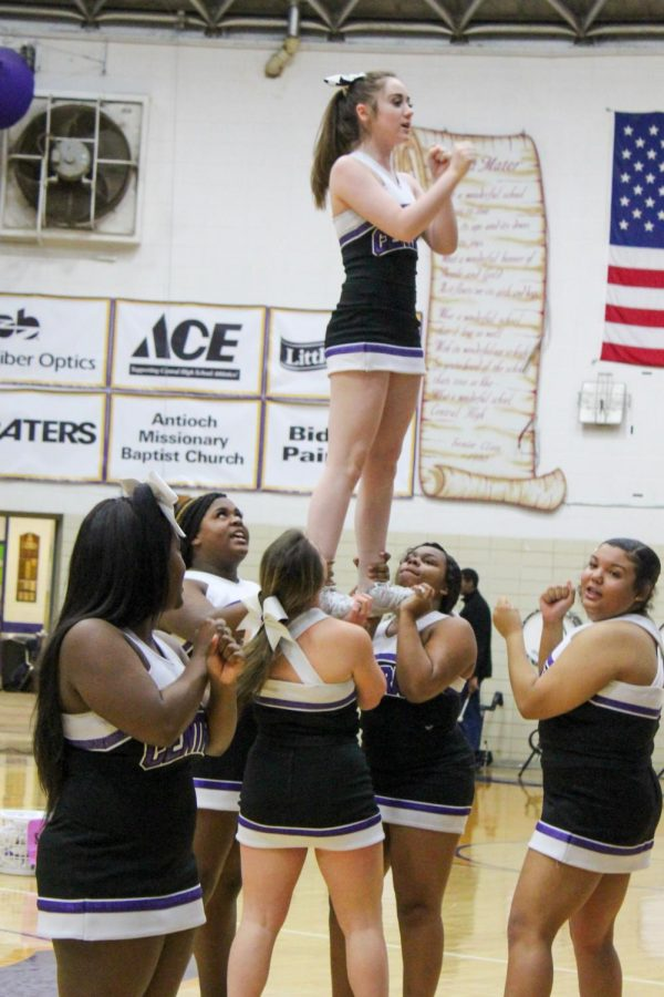 PHOTO+GALLERY%3A+2020+FEBRUARY+PEP-RALLY+--+The+Central+High+School+Varsity+cheerleaders+perform+stunts+at+the+pep+rally.