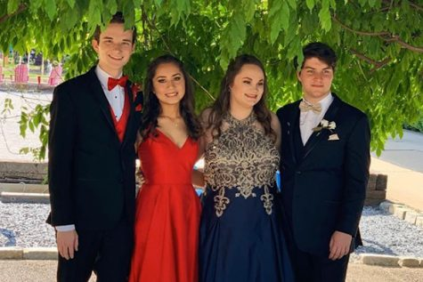 AN UPDATE ON THE SPRING -- Events such as prom will be returning to the spring calendar. In this file photo from 2020, former Central students Preston Fore, Cassandra Castillo, Abby Young, and Matthew Davis (left to right) take pictures before heading to 2019