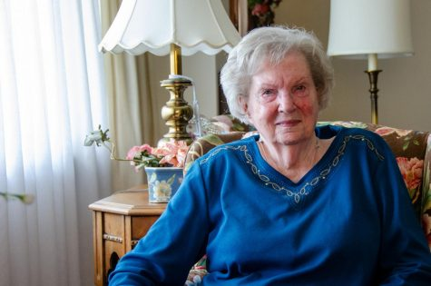 MARJORIE OGLE REFLECTS ON 36 YEARS AT CENTRAL HIGH SCHOOL -- Former  English Teacher Marjorie Ogle sits in her Chattanooga, Tennessee, home.