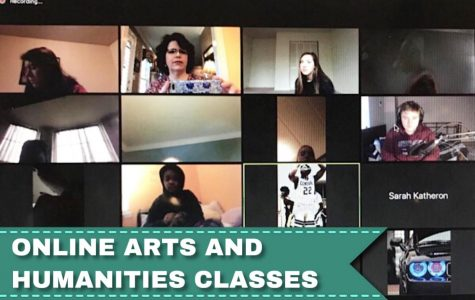 ARTS AND HUMANITIES CLASSES HELD ONLINE -- The Central Voices hold a virtual Zoom meeting.