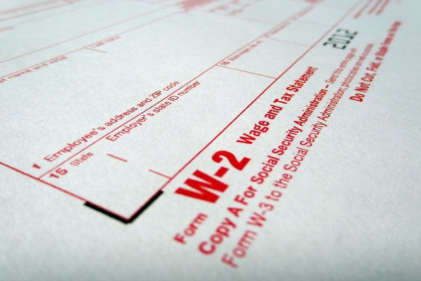 HOW TO GET YOUR TAX REFUND THIS SEASON -- Pictured above is a W2 form supplied by employers and necessary to file for a tax refund.