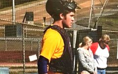 ASSISTANT BASEBALL COACH TANNER MOWERY STEPS DOWN AS HE STEPS INTO HIS FUTURE-- Tanner Mowery playing catcher when he attended Central High School.