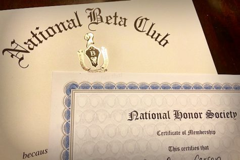 NATIONAL HONOR SOCIETY AND BETA CLUB MEMBERS ARE STILL ON TRACK TO BE INDUCTED NEXT SCHOOL YEAR-- Although school shutdowns have produced many bumps in the road concerning school activities, Central
