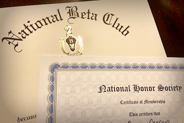 NATIONAL HONOR SOCIETY AND BETA CLUB MEMBERS ARE STILL ON TRACK TO BE INDUCTED NEXT SCHOOL YEAR-- Although school shutdowns have produced many bumps in the road concerning school activities, Central's National Honor Society and Beta Club leaders are working hard to figure out the next steps in the programs.
