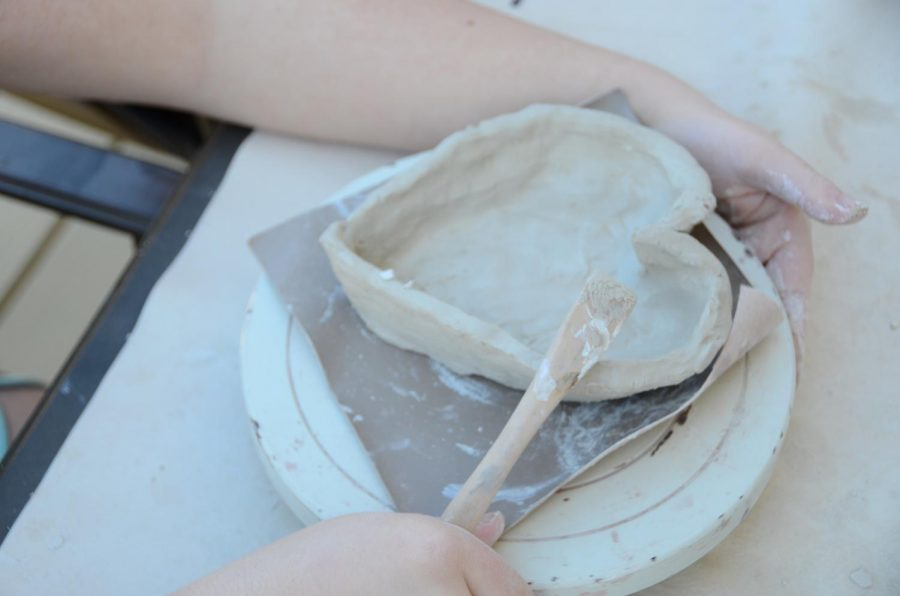 HOW TO ENJOY SPRING BREAK DURING SOCIAL DISTANCING -- Trying a new craft, like pottery, is a great option over spring break.