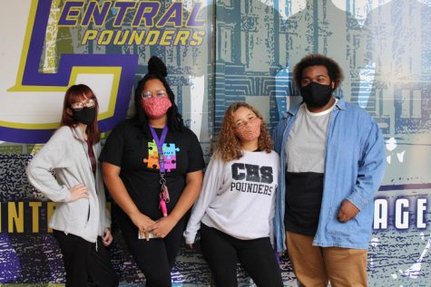 HIGH HOPES AMONG SENIOR CLASS OFFICERS FOR THE 2020-21 SCHOOL YEAR -- (From left to right) Treasurer Zoey Greene, Vice President Ariya McGhee, President Destiny Smith, and Secretary Kenyon McCrobey hope to work together and make this school year one to remember.