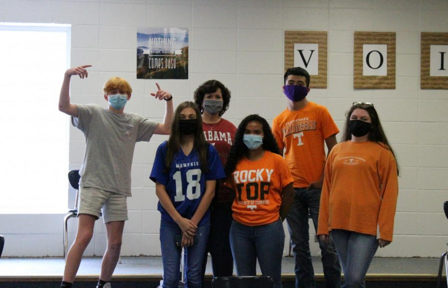HOMECOMING WEEK IS RIGHT AROUND THE CORNER -- Both students and teachers dressed up in college attire on Friday, September 25.