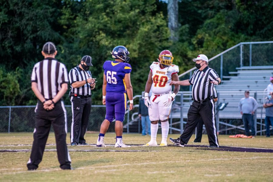 PHOTO GALLERY: HOMECOMING 2020 -- The Central Pounders prepare to face the Howard Tigers Homecoming night.