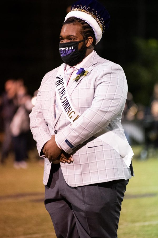 PHOTO GALLERY: HOMECOMING 2020 --Kenyon McCrobey is presented as the 2020 Homecoming King.