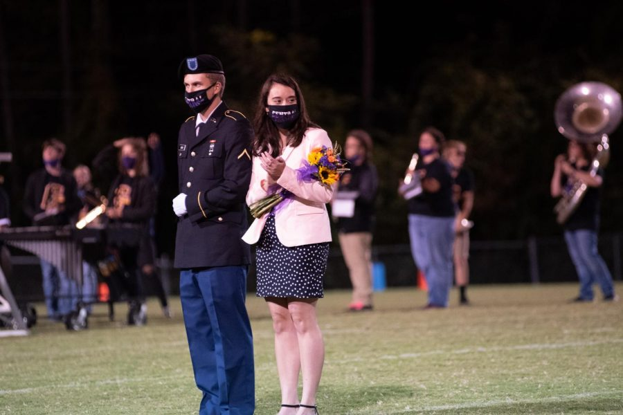 PHOTO GALLERY: HOMECOMING 2020 --Ashlee Smith is presented as a member of the 2020 Homecoming Court, escorted by Joshua Boles.
